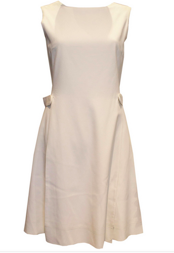 A Vintage 1960s White Crepe Dress by Berketex