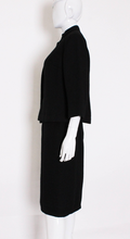 Load image into Gallery viewer, A Vintage 1960s Christian Dior Black Skirt Suit