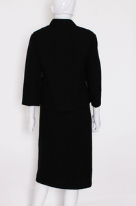 A Vintage 1960s Christian Dior Black Skirt Suit