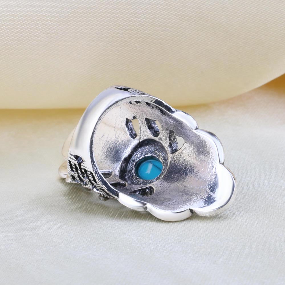 Turkish Ring with Stones and Crytstals
