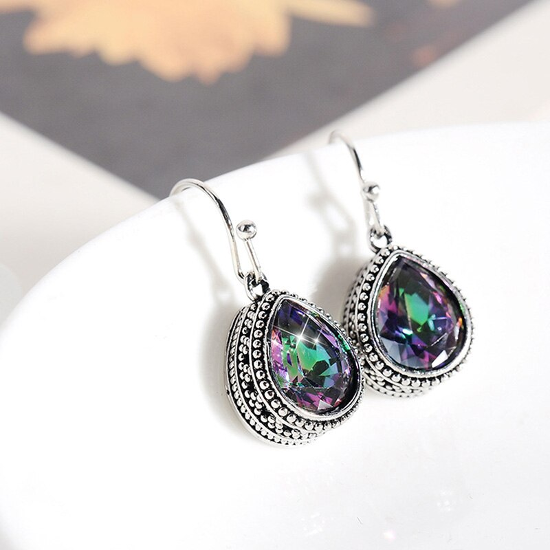Elegant Teardrop Crystal Earrings