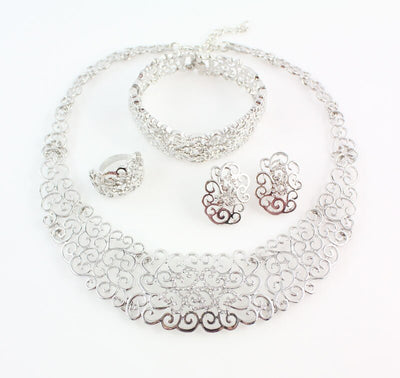 Silver-plated Filigrane 4 Pieces Set