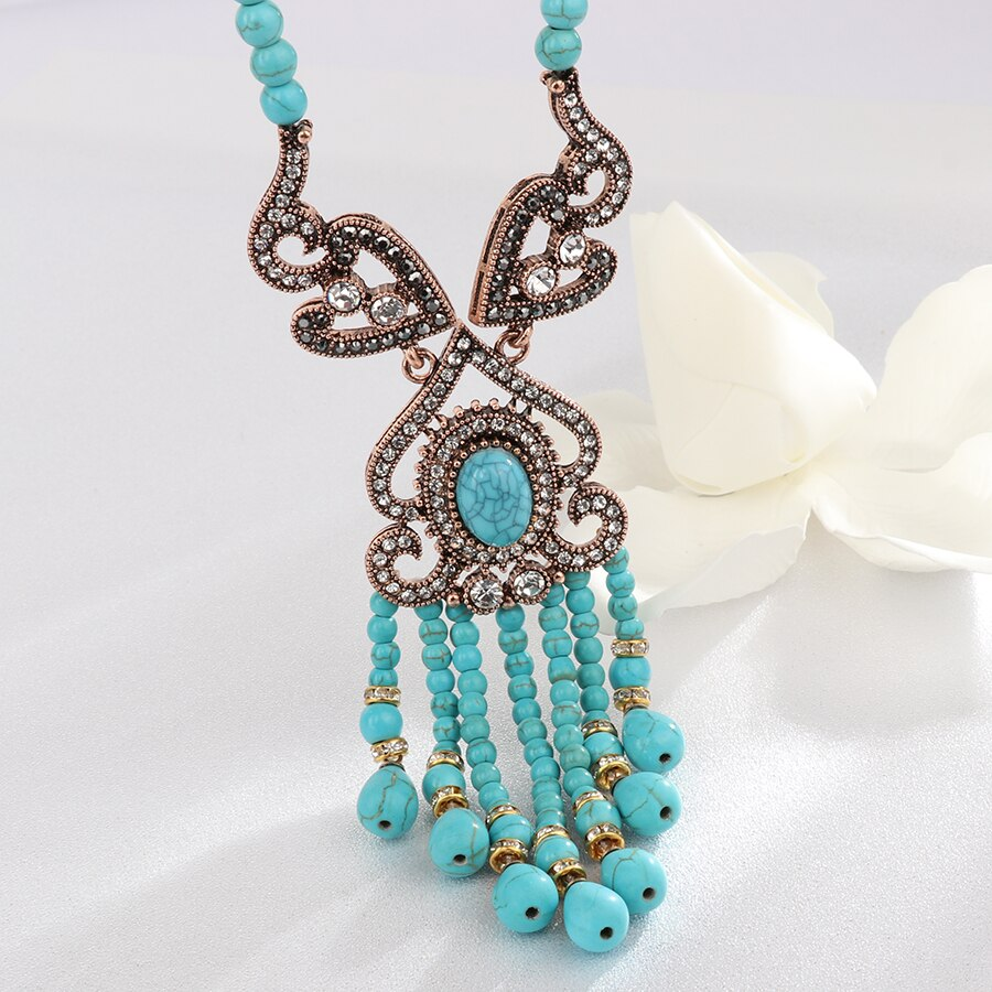 Turkish Teardrop Turquoise Necklace