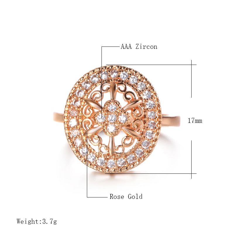 Pink Coper and Zircon Ring