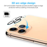 EGV [2 Pack] Screen Protector + [2 Pack] Camera Lens Protector for iPhone 11 Pro(5.8'')