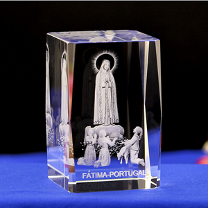 OUR LADY OF FATIMA CRYSTAL STATUE