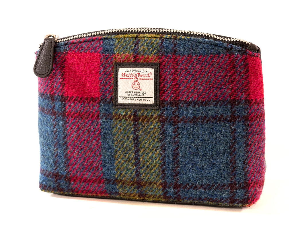 Harris Tweed Cosmetic Bag-Rainbow Tartan
