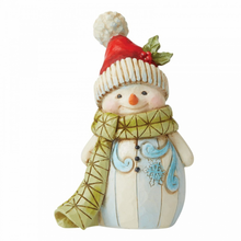 Load image into Gallery viewer, Jim Shore Mini Snowman with Pom Pom Santa Hat