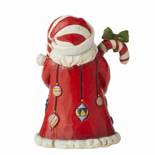 Load image into Gallery viewer, Jim Shore Santa with Candy Cane Mini Figurine