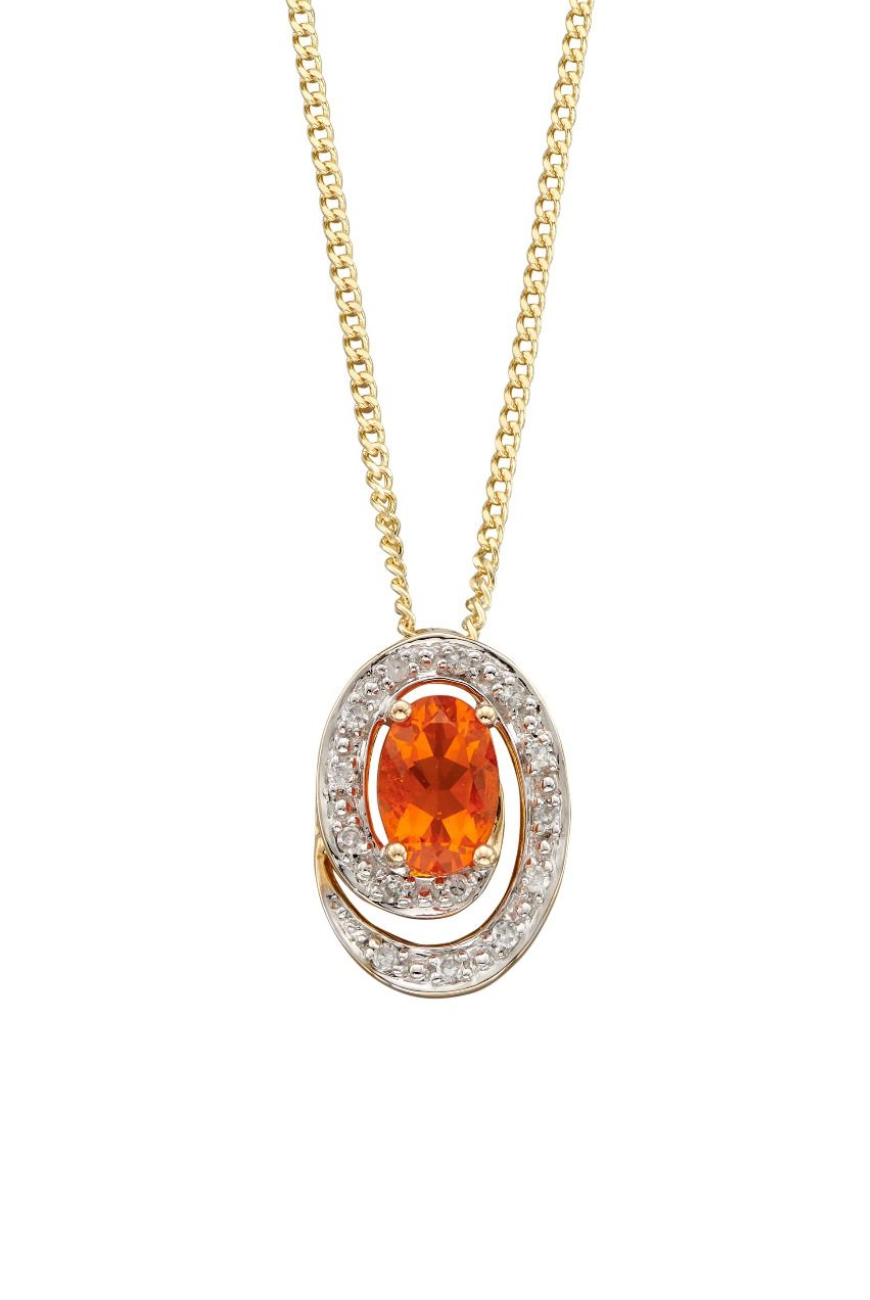9ct Fire Opal Pendant