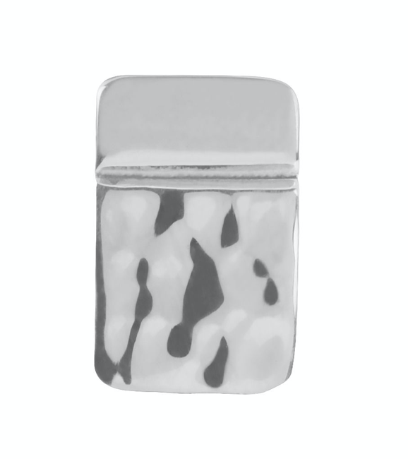 Tianguis Jackson Silver Hammered Square Stud