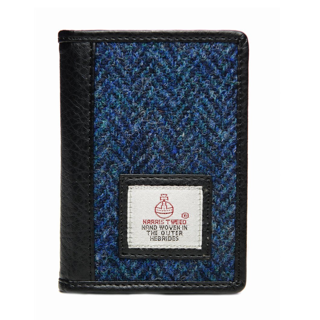 Harris Tweed Blue Card Holder