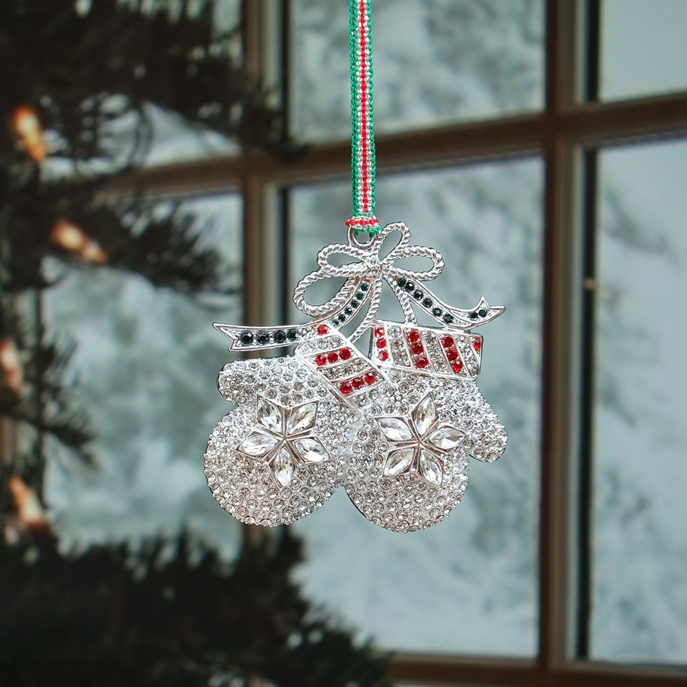 Newbridge Crystal Mittens Christmas Decoration
