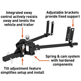 CURT TruTrack Weight Distribution Hitch with Sway Control