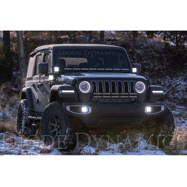 Diode Dynamics Cowl Mount LED Light Pods (SS3) Wrangler JL / Gladiator