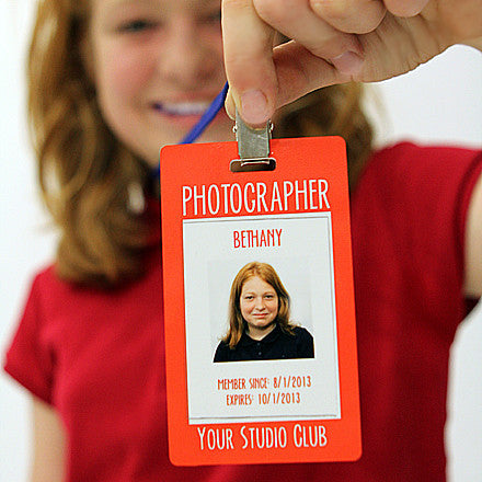 Basic Digital Photography for Kids - Photographer Badge Template