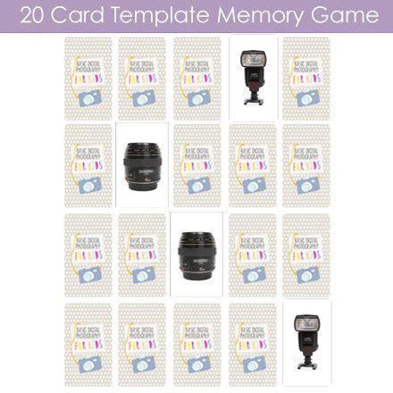 "Basic Digital Photography for Kids - ""Memory"" Card Game Templates"