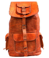 Brown Leather Denver Long Ruckback - cuerobags