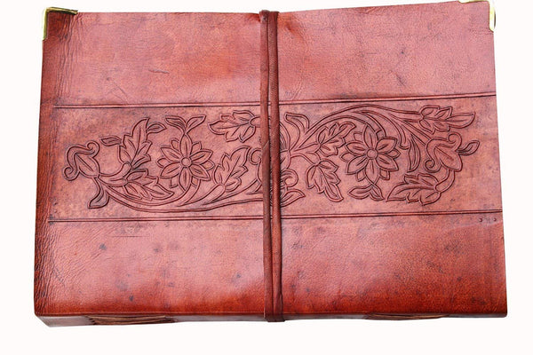 Vintage Leather Journal Notebook Diary for Writers Artist Professionals Leather Notebook Sketchbook Blank Book by cuero - cuerobags