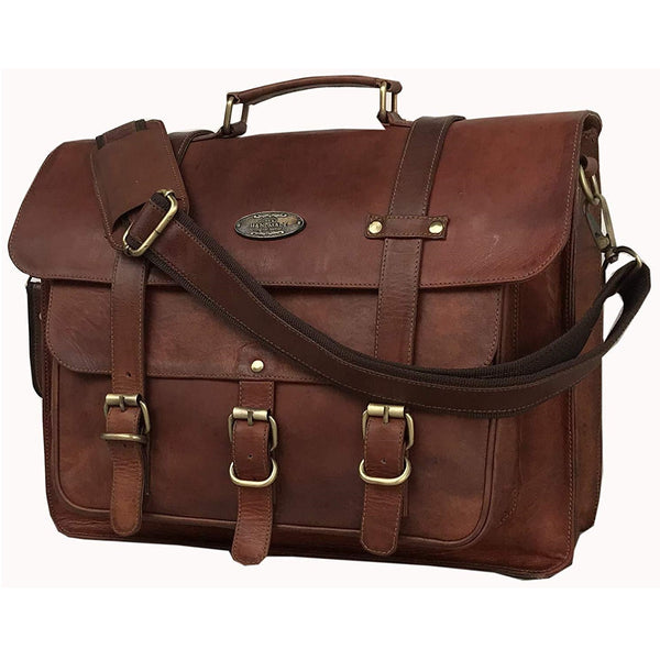 Leather Messenger Bag | Rugged Brown Leather Bag | laptop messenger bag for women