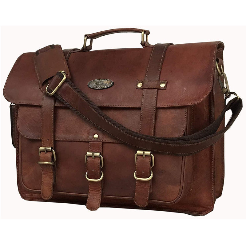 Rugged Brown Leather Bag