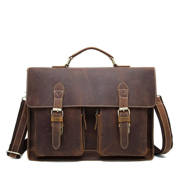 Washington Leather Messenger Bag - cuerobags