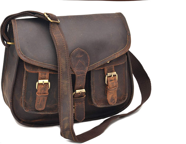 14 Inch Leather Purse Women Crossbody Shoulder Bag