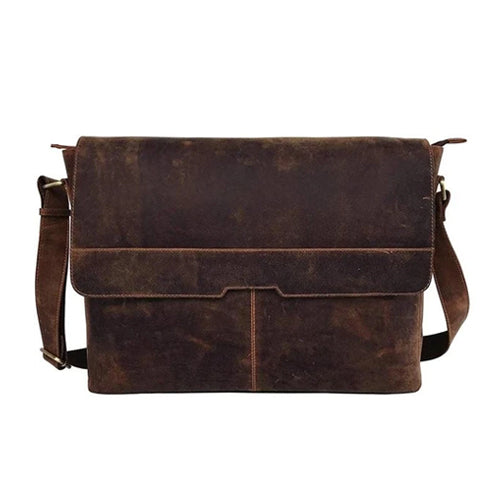 "CUERO 15"" RETRO BUFFALO HUNTER LEATHER BAG - cuerobags"