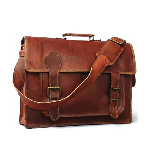 vintage messenger bag | leather briefcase | The Workman's Laptop Bag  | vintage leather suitcase