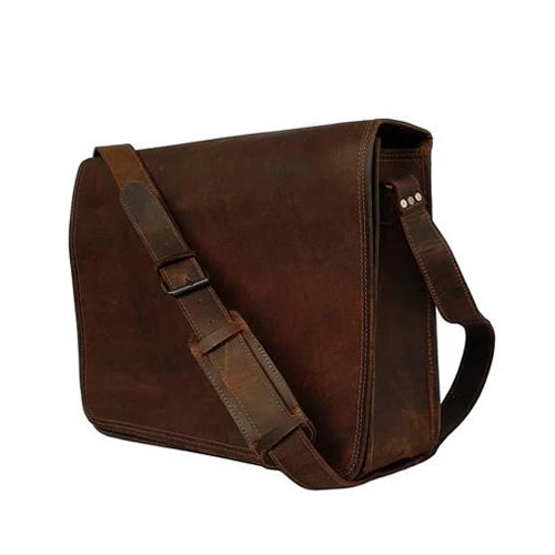 Grain Leather Messenger Bag
