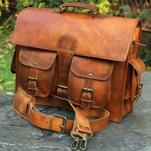 Leather messenger bags in USA | Buy handmade leather bags, mens leather suitcase | Agile Satchel Leather Bag