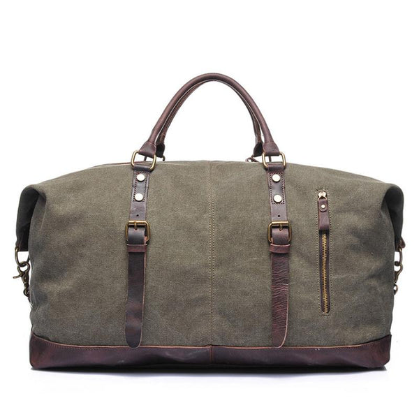 mens leather duffle bag | handmade leather bags | Andrew Leather Weekend Bag |