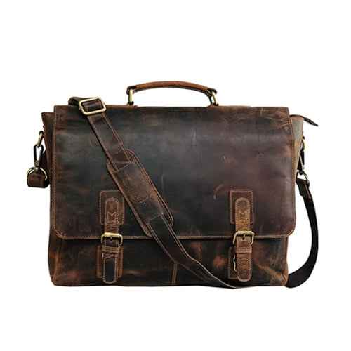 Stellar Leather Satchel Bag | mens leather messenger bag | vintage leather suitcase | mens brown leather briefcase