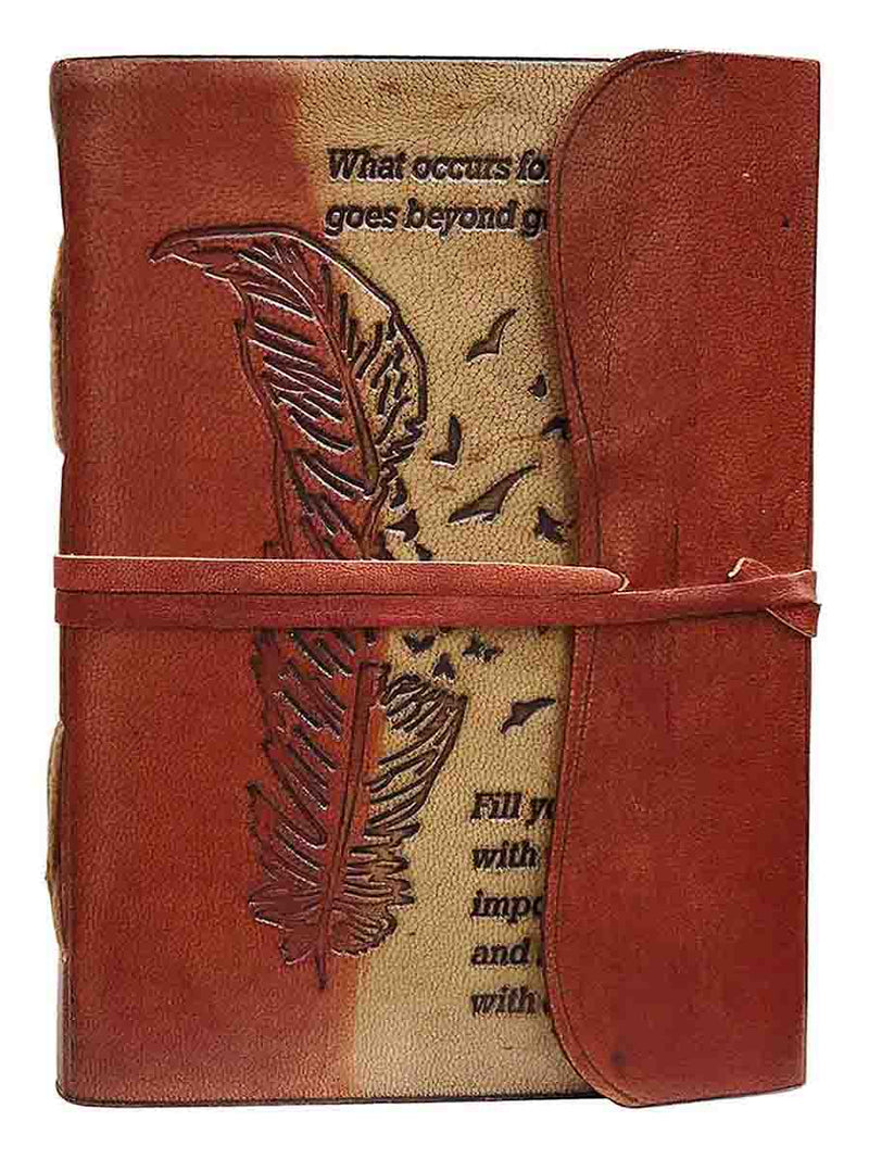 Love Leaf Embossed Leather Journal For Gift