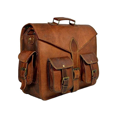 Buy leather messenger bags & leather suitcase for Men | Glossy Coffee Leather Bag | womens leather laptop briefcase