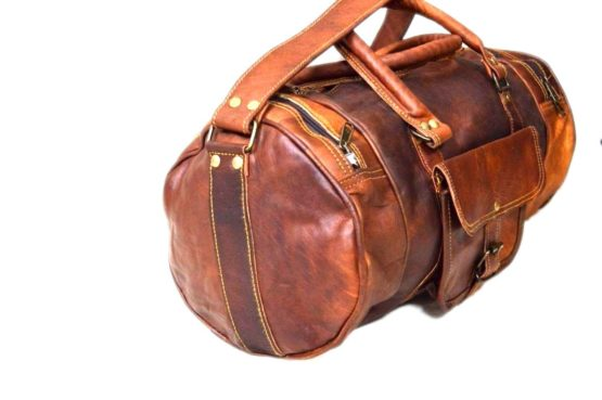 "24"" Brown Leather Harrison Travel Bag - cuerobags"