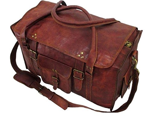 "Cuero 21"" Women's Retro Style Carry on Luggage Flap Duffel Leather Duffel Bag - cuerobags"