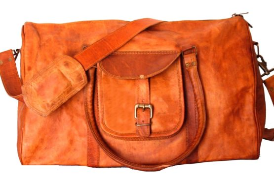 Brown Triangle Harrison Leather Bag - cuerobags