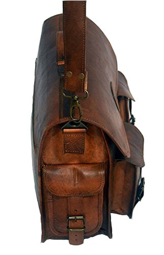 Leather Messenger Handmade Bag Laptop Bag Satchel Bag Padded Messenger Bag School Bag - cuerobags