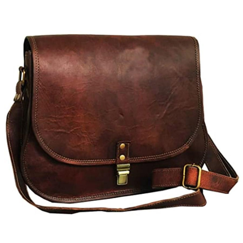 14 Inch Leather Crossbody Satchel Ladies Purse Women Shoulder Bag Tote Travel Purse Genuine Leather