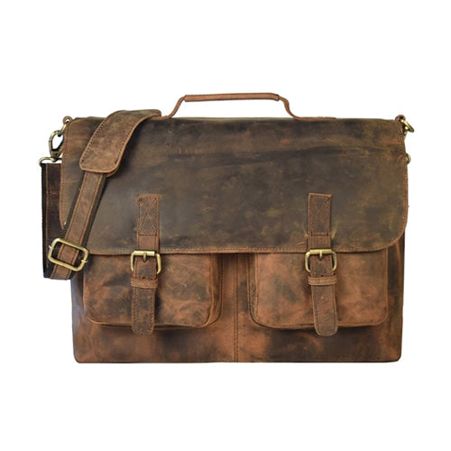 Buy laptop messenger bags for men in USA | Retro Chasseur Leather Bag | leather briefcase for men online
