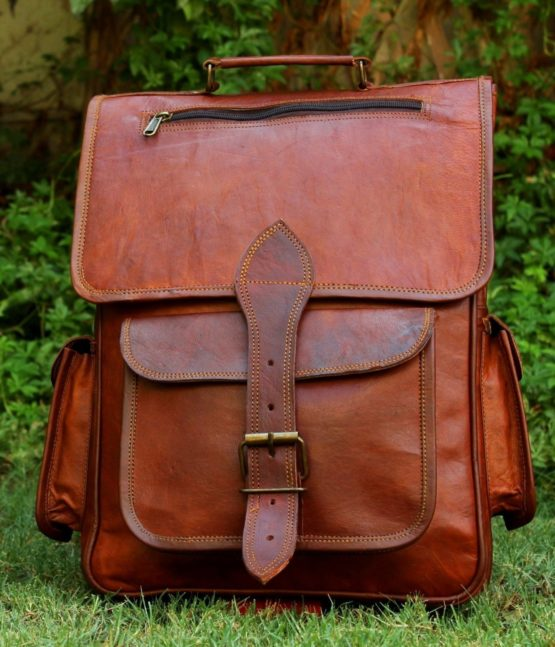 Leather backpack Vintage Bag Leather Handmade Vintage Style Backpack/College Bag - cuerobags
