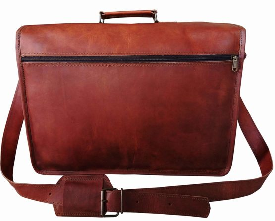 Cureo Vintage Couture 18 Inch Genuine Business Leather Laptop Messenger Bag - cuerobags