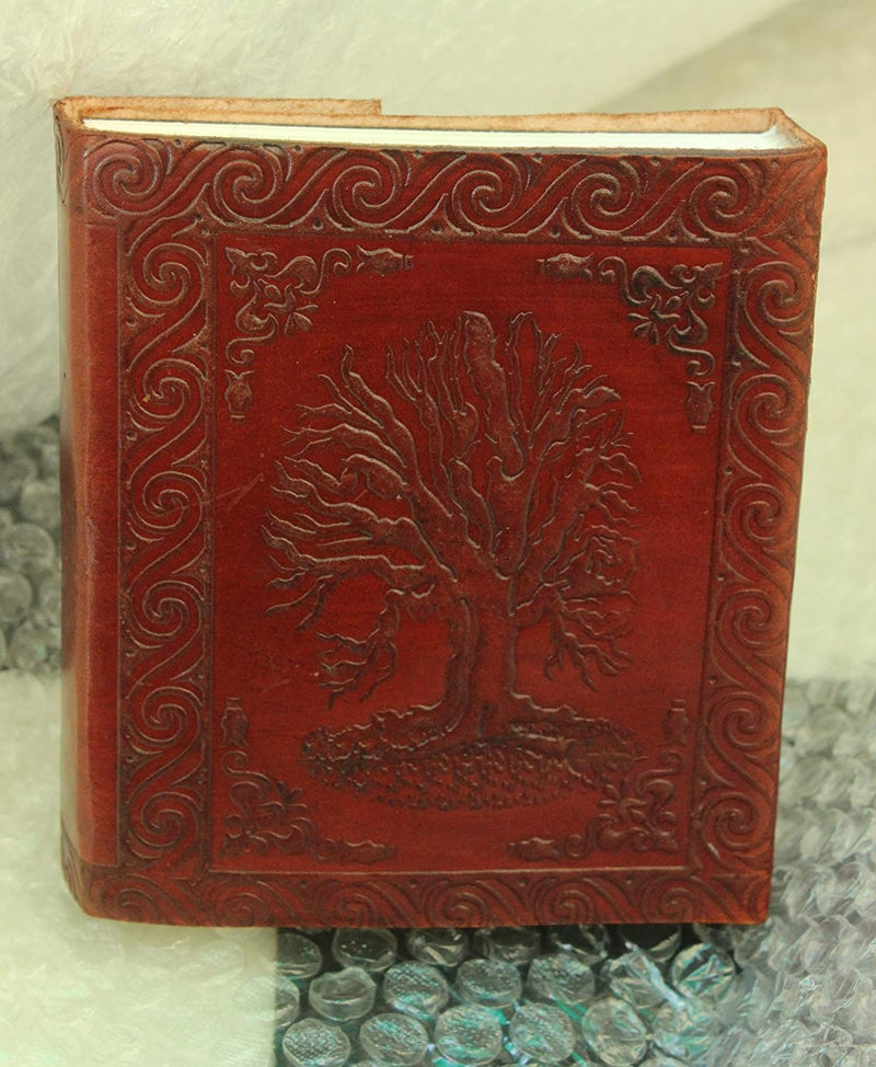 Cuero brown vintage leather tree of life journal notebook for writing leather diary handmade leather journal - cuerobags
