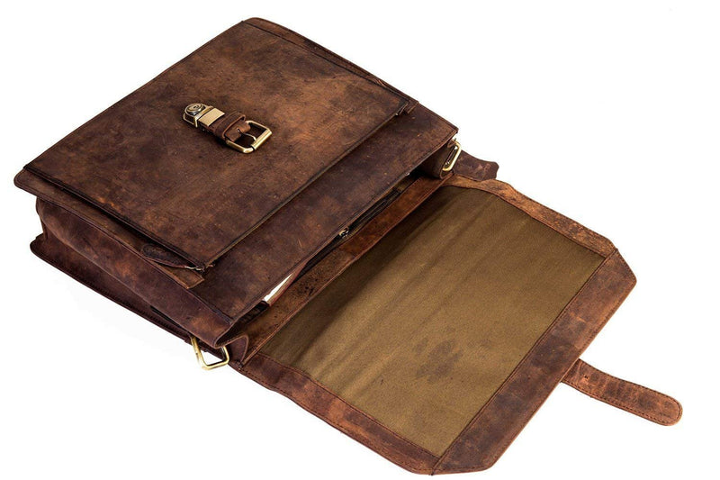 14 Inch Leather Laptop Messenger Bag for Man - cuerobags