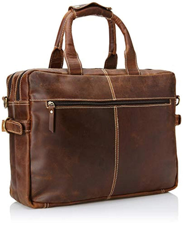 Shark Classic Leather Laptop Bag