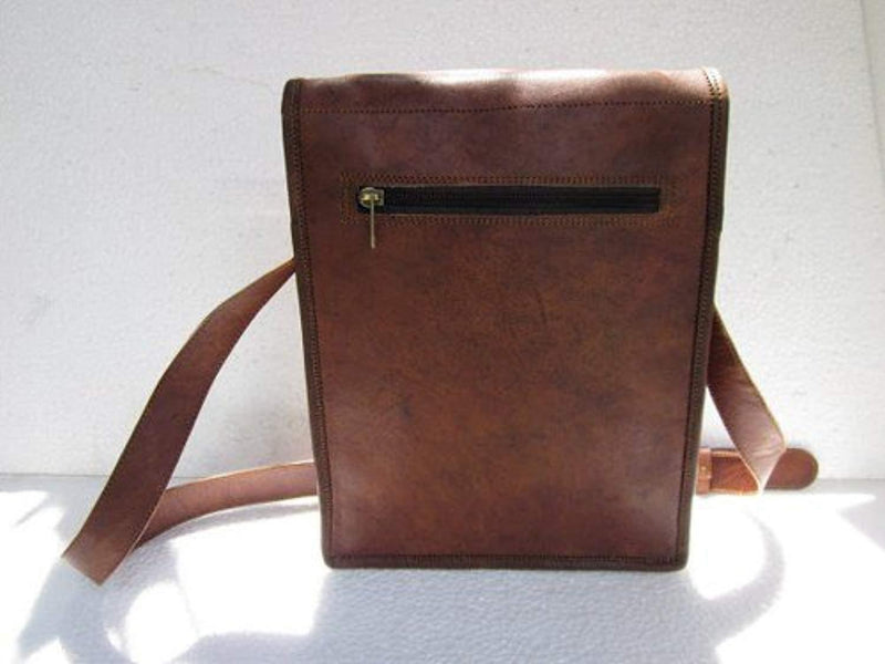 "Komal's Passion leather 11"" Inch Ipad Messenger Satchel Purse Bag"