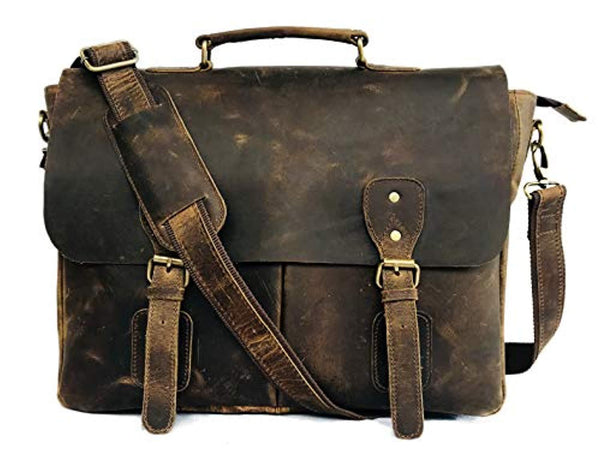 Leather Laptop Messenger B07M7W7HM1 Vintage Couture