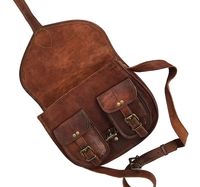 14 Inch Leather Purse Women Shoulder Bag Cross body Satchel Ladies Tote Travel Purse Genuine Leather - cuerobags