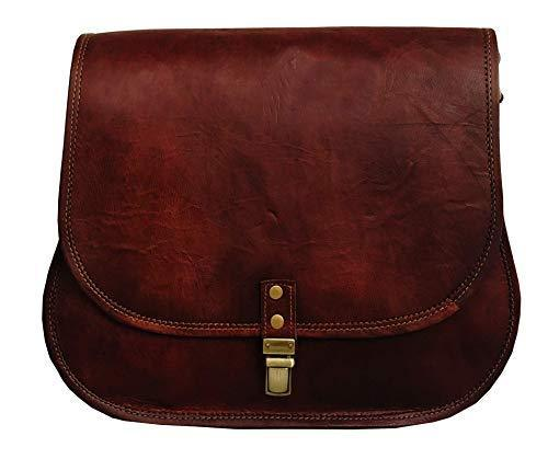 14 Inch Leather Crossbody Satchel Ladies Purse Women Shoulder Bag Tote Travel Purse Genuine Leather - cuerobags